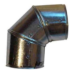 Xplo płaszcz ochronny z blachy stalowej ocynkowanej kolano